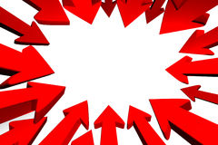 center rött uppsätta som mål för pilar till stock illustrationer