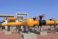 center raffinaderi västra siberia för oljepipeline Royaltyfria Bilder