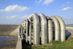 center raffinaderi västra siberia för oljepipeline Royaltyfri Fotografi