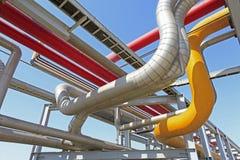 center raffinaderi västra siberia för oljepipeline Royaltyfria Foton