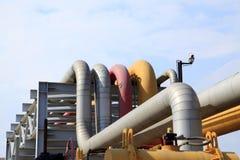 center raffinaderi västra siberia för oljepipeline Arkivfoton
