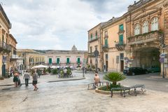 The center of Ragusa, Sicily, Italy Stock Photography