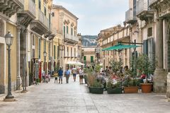 The center of Ragusa, Sicily, Italy Royalty Free Stock Images