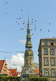 Center of Riga. Royalty Free Stock Photo