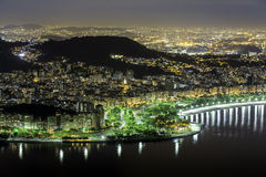 Center of Rio De Janeiro by night Stock Photos