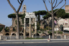Center of Rome, ruin, old buildings,  Lazio, Italy Royalty Free Stock Photo