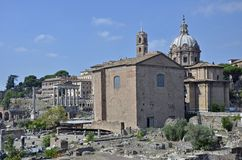 Center ruin in Rome Stock Photo