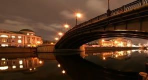 center russia för moscow nattpanorama sikt Royaltyfri Fotografi