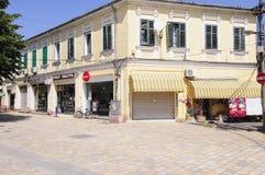 Center of shkoder albania europe stock photography