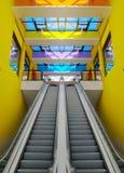 center shoppa för rulltrappa Royaltyfri Fotografi