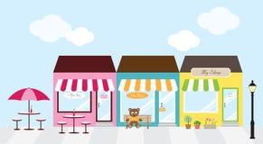 center shopping royaltyfri illustrationer