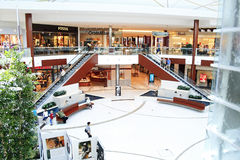 center shopping Arkivbild