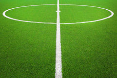 Center of  soccer field. Center of football or soccer field Royalty Free Stock Photography