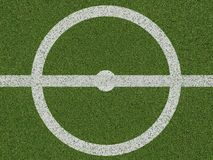 Center of soccerfield or football field on top view Stock Images