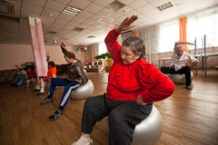 Center of social services for pensioners/disabled Stock Image