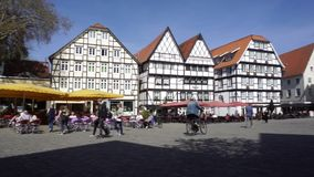 Center Of Soest City, Germany stock footage