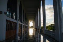 Center Songkla Mosque Thailand. Black and White Beautiful Mosque in Songkla Thailand Stock Photography