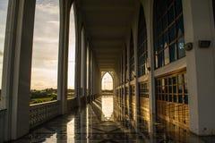Center Songkla Mosque Thailand. Inside Beautiful Mosque in Songkla Thailand Stock Photo