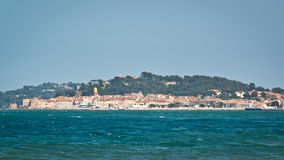 Center of St. Tropez - wiev from the sea Stock Images
