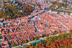 center stad gammala romania för brasov Royaltyfria Bilder