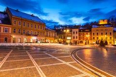 center stad gammala romania för brasov royaltyfri fotografi