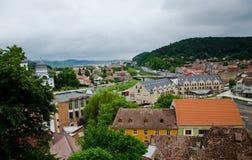 center stad gammala romania för brasov Arkivfoto