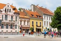 center stad gammala romania för brasov Arkivbild