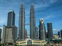 center stad Kuala Lumpur royaltyfri foto
