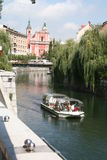 center stad ljubljana slovenia Royaltyfri Bild