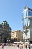center stad vienna Arkivfoto