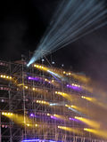 Center stage with fantastic light. Pattern of show place Royalty Free Stock Photography