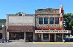 The Center Store and Annies Old Fashioned Soda Saloon Stock Images