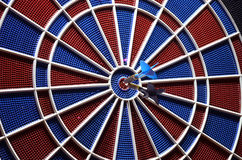 Center of the target dartboard and two arrows Stock Image
