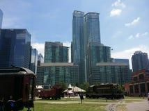 Center of Toronto, Canada. City view train in Toronto, Canada stock photos