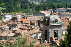 Center town of Anduze Stock Photo