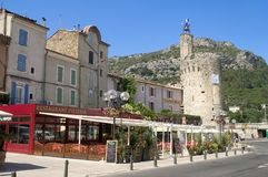 Center town of Anduze Royalty Free Stock Photo