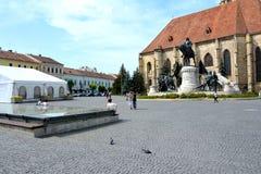 Center of the town Cluj-Napoca, Transylvania Royalty Free Stock Photos