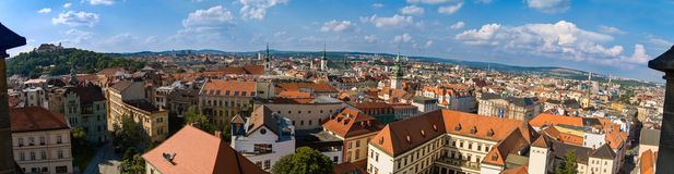 Center town from on high. Panorama Center of Brno from on high Stock Photo