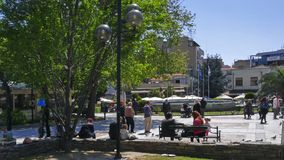 Center of Town of Serres, Central Macedonia, Greece stock image
