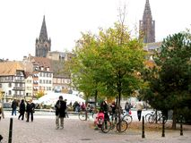 Center of the town Strasbourg Stock Photo