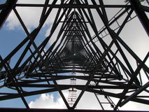 Center under Communications Tower Stock Images