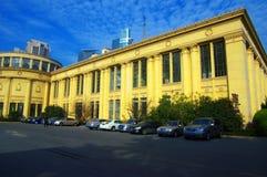 center utställning shanghai Arkivbild
