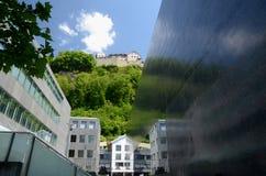center vaduz för slott sikt Royaltyfri Foto