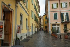 Center of Varese, Italy stock images