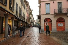 Center of Varese, Italy royalty free stock image