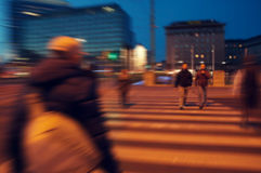 Center of Vienna Pedestrian crossing at the evening time Stock Photos