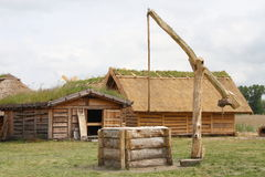 Center of Viking Village Stock Photos
