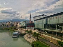 Center of Villach Royalty Free Stock Images