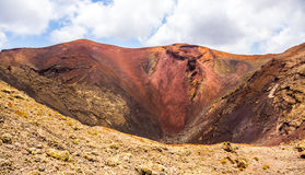 Center of volcan Royalty Free Stock Image