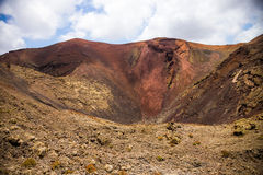 Center of volcan Royalty Free Stock Images